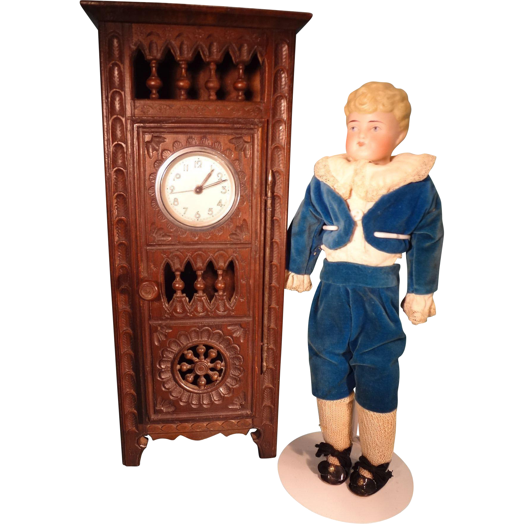 Antique Miniature French Brittany Clock