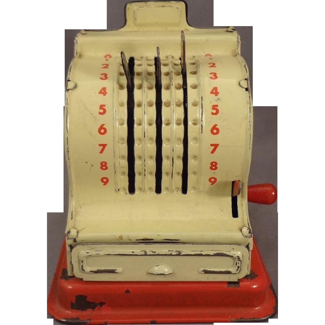 Tin Cash Register for German Shop
