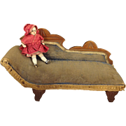 Eastlake Doll's Chaise Upholstered