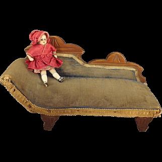 Eastlake Doll's Chaise Upholstered