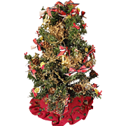 """10"""" Decorated Christmas Tree with Skirt"""