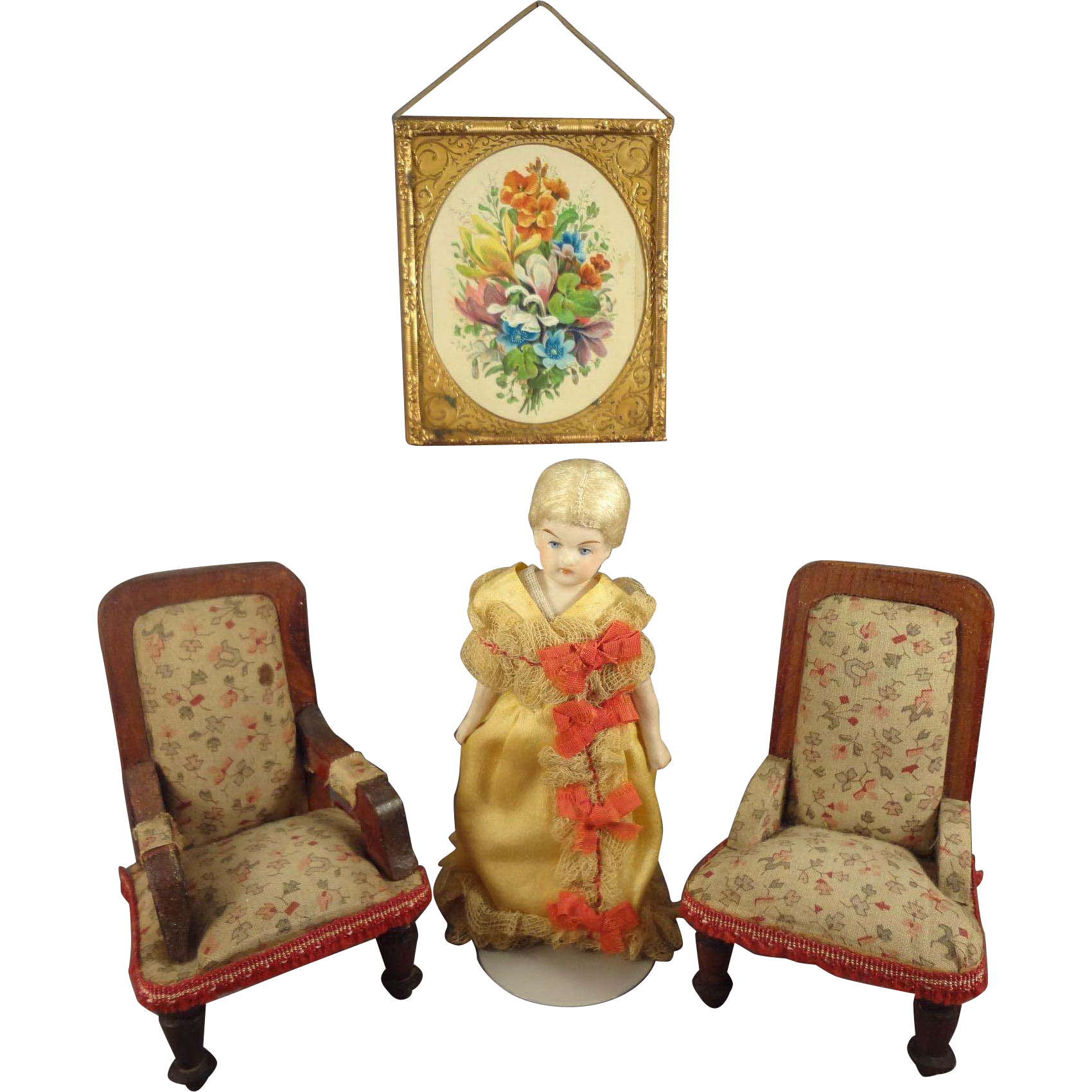 Doll House Upholstered Arm Chair and Side Chair