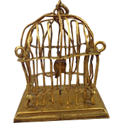 Ormolu Erhard & Sohne Birdcage with Parrot for Doll House