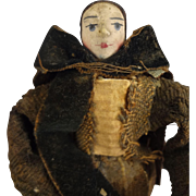 "Outstanding 5 1/2""  Early French Doll in Mixed Medium"