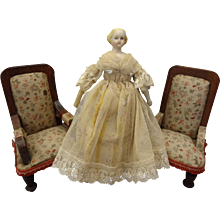"5"" Bisque Doll House Doll with Blonde Sculpted Hair"