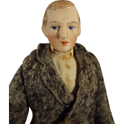 Bisque Doll House Gentleman in Original Costume