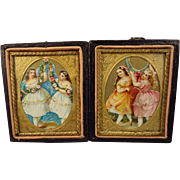 Pair of Framed Doll House Pictures