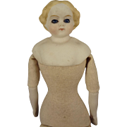 """6"""" Bisque Doll House Doll with Glass Eyes"""