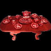 Beautiful Miniature Porcelain Dinner and Tea Set in Original Box