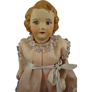 """Vintage 7 1/2"""" All Bisque Doll with Yellow Boots"""