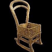 Miniature Bronze Rocking Chair