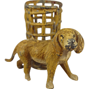 Small Miniature  Dog with Basket