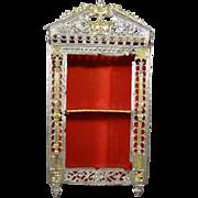 Filigree Soft Metal Doll House Cabinet