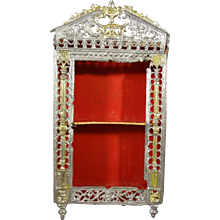Filigree Soft Metal Doll House Cabinet