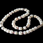 Watermelon Tourmaline, Rosebud Druzy (Drusy) Baroque Cultured Pearl Gemstone 14K Gold Filled Artisan Handmade Jewelry Gift