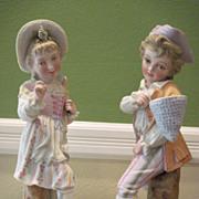 Victorian Bisque Pair of Children Figurines