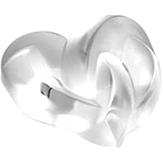 Authentic Lalique Crystal Hearts Paperweight