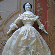 Classic 1860's to 1870's Flat Top China Head Doll