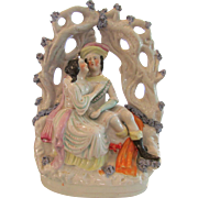 Antique 19th Century Staffordshire Courting Couple Figure