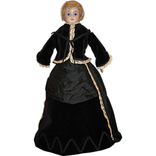 "1870's French Style Dress for a 23"" inch Doll"