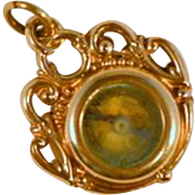 Victorian Gold Fill Compass and Scottish Agate Fob/Pendant