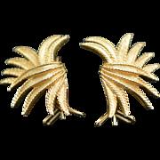 Vintage Marcel Boucher Wing Earrings - Pierced