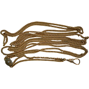 Victorian Gold Fill Chain with Seed Pearl