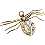 Victorian French Paste Spider Brooch
