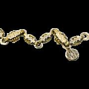 Victorian Fancy Gold Fill Bracelet with Locket