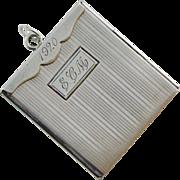 Unusual Art Deco Sterling Large Photo Locket