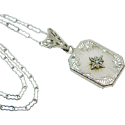 Art Deco Sterling Camphor Necklace