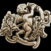 Vintage Cini Zodiac Aquarius Sterling Brooch Pin