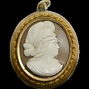 Victorian Gold Fill Lava Cameo