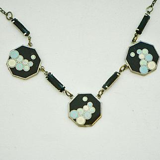 Art Deco 1920s Enamel Bubbles Necklace