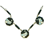 Art Deco 1920s Enamel Bubbles Necklace