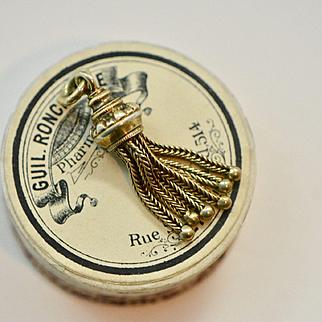 Antique Victorian Gold Fill Tassel Fob Pendant