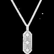 Art Deco Platinum, Diamond and 14k White Gold Filigree Pendant, 1920s Pendant, Wedding, Bridal