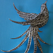 MB BOUCHER 1941 Right-Facing Pave Swallow Pin (Book Piece)