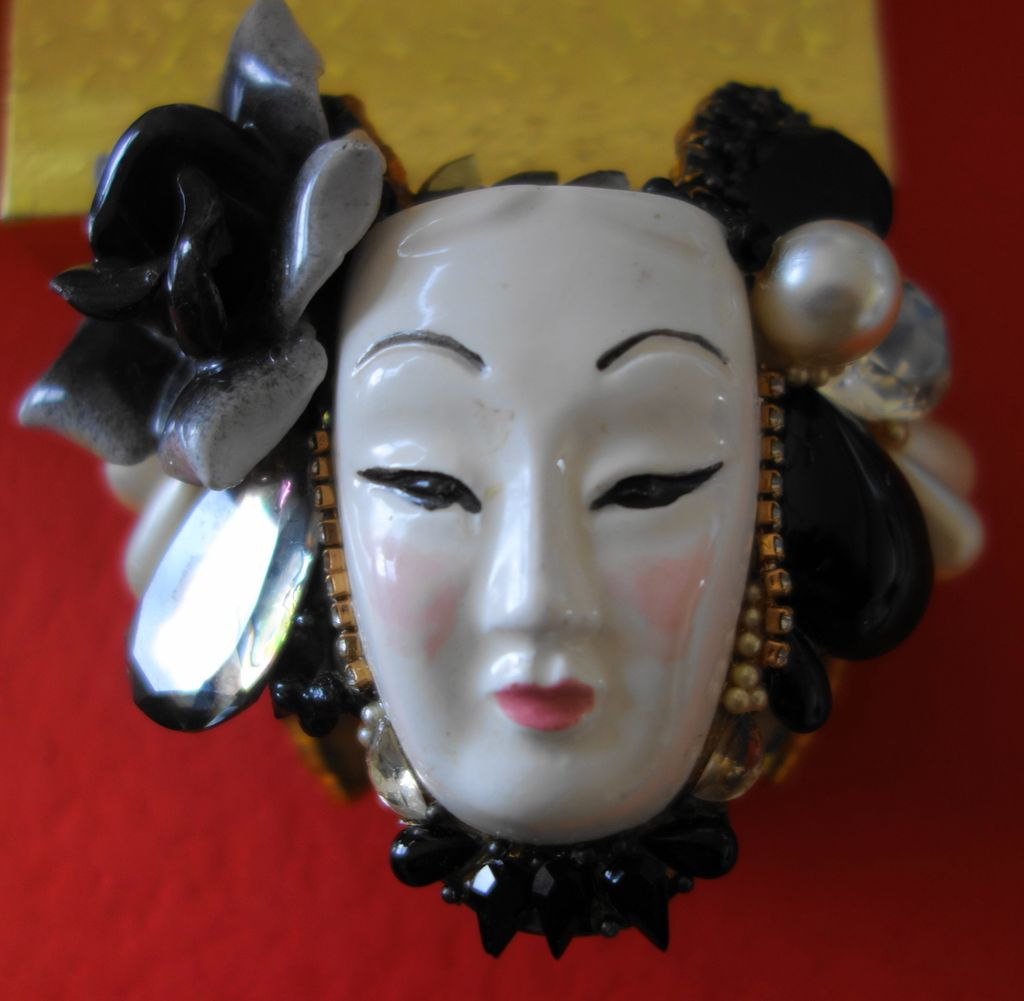 Wendy Gell Bracelet: Signed 1986 Ceramic/ Mixed Media