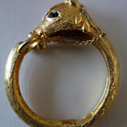 Signed Pauline Rader Palomino Head Clamper Bracelet