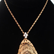 Joseff of Hollywood Large Openwork Pendant