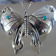 MEXICAN Butterfly Sterling Silver Cuff Bracelet