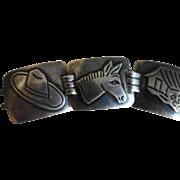 MEXICAN Taxco Damaso Gallegos Sterling Silver Bracelet