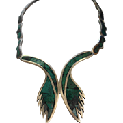 LOS CASTILLO MOSAICO AZTECA Sterling Silver Necklace
