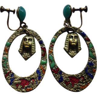 Neiger-Style Art Nouveau Earrings (circa 1920s)