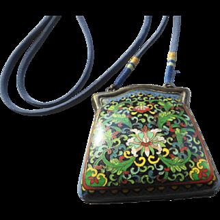 Chinese Cloisonne Enamel Purse (circa 1920s)