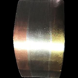 LOS CASTILLO Sterling Silver Mixed Metal Cuff Bracelet #189