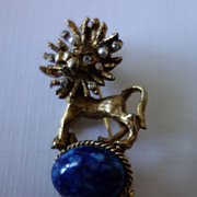 Circus Lion Brooch