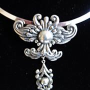 Los Castillo Taxco Sterling Silver Pendant Necklace