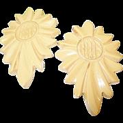 Vintage Bakelite Dress Clips Sunflowers